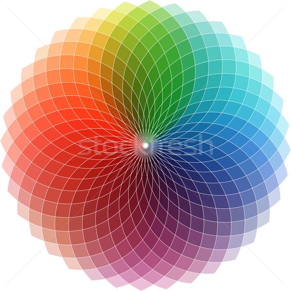 Espectro projeto abstrato colorido cor cor Foto stock © kjpargeter