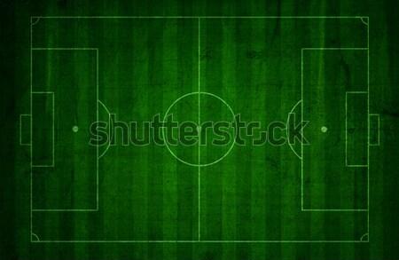 Grunge voetbal toonhoogte stijl voetbal ontwerp Stockfoto © kjpargeter