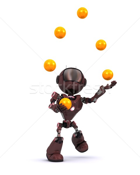 Android juggling balls Stock photo © kjpargeter