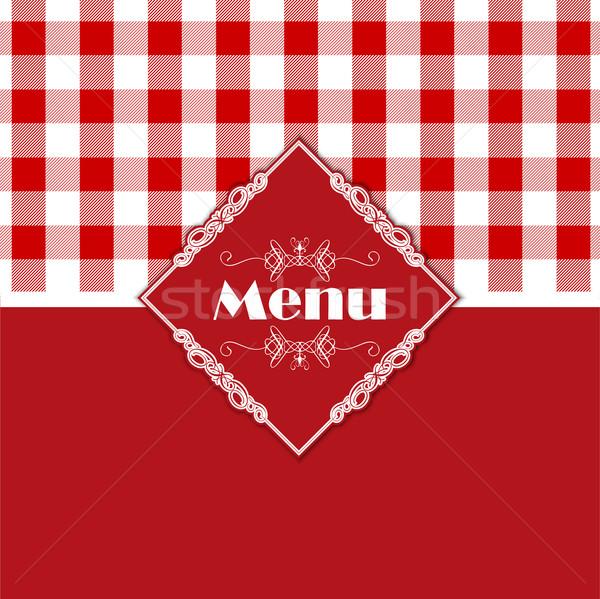 Gingham pattern menu design  Stock photo © kjpargeter