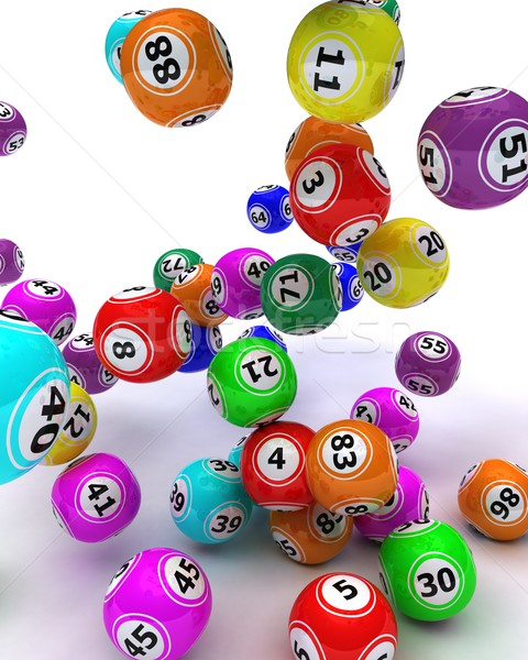 набор бинго 3d визуализации мяча Сток-фото © kjpargeter