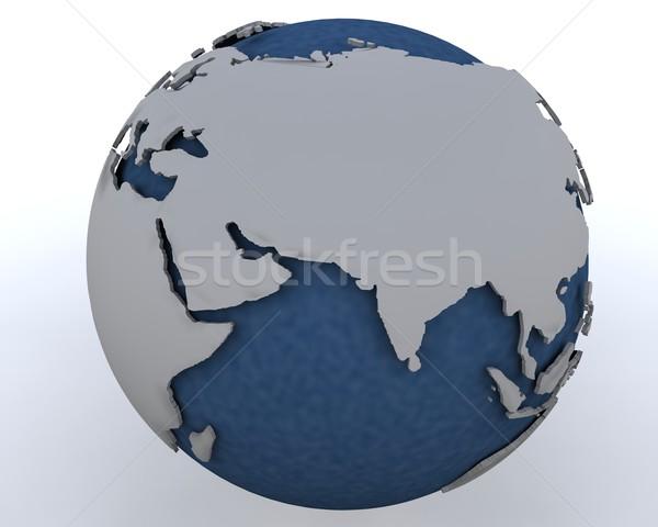 Mundo Oriente Medio región 3d mapa Foto stock © kjpargeter