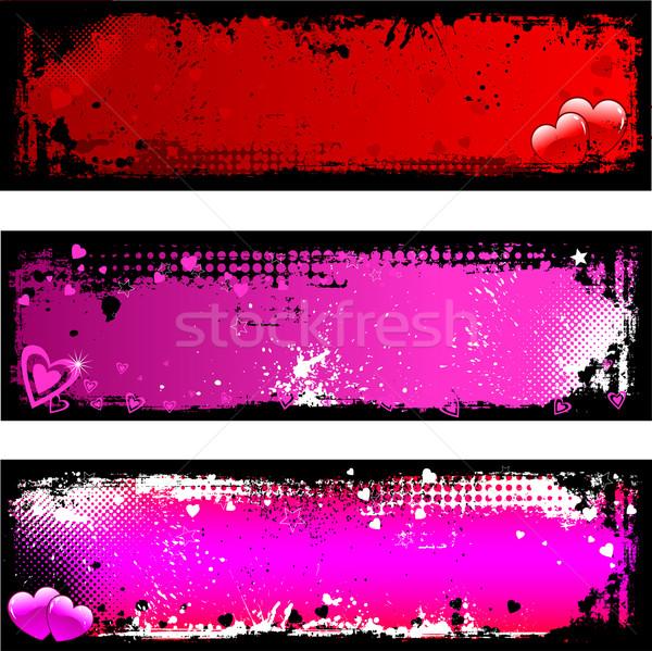 Grunge Valentines backgrounds Stock photo © kjpargeter
