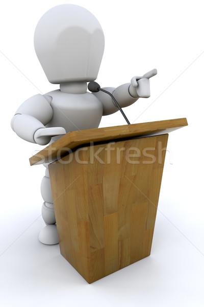 Hangszóró 3d render valaki beszél férfi női Stock fotó © kjpargeter