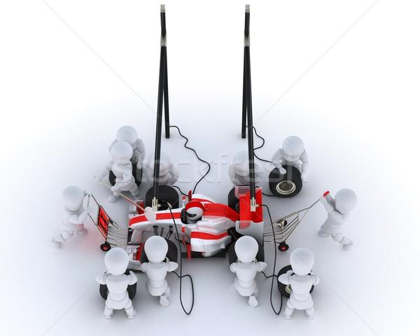 レースカー 停止 3dのレンダリング 車 男 スポーツ ストックフォト © kjpargeter