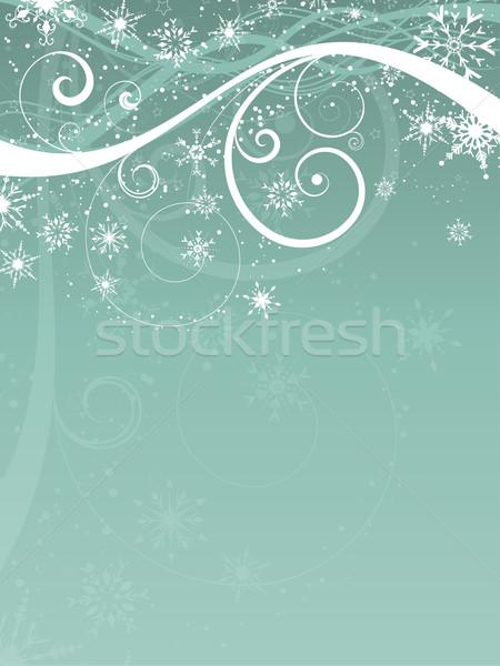 декоративный Рождества снежинка дизайна звезды праздник Сток-фото © kjpargeter