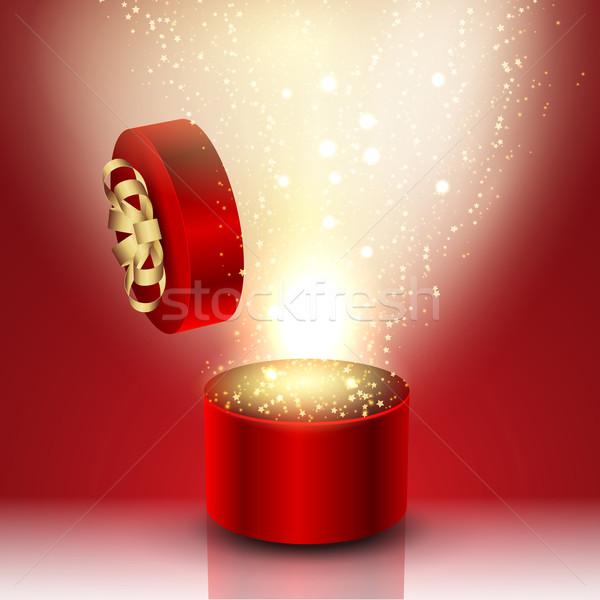 Exploding gift box Stock photo © kjpargeter