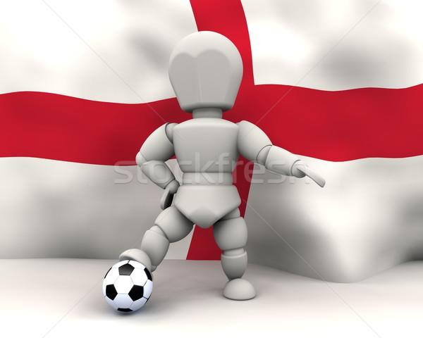 Мир Кубок футбола Команды 2010 3d визуализации Сток-фото © kjpargeter