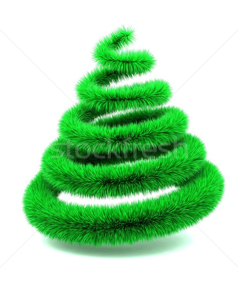 abstract furry christmas tree Stock photo © kjpargeter