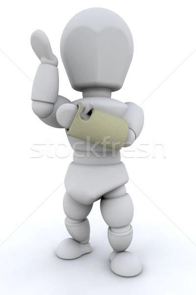 Törött csukló 3d render személy kéz férfi Stock fotó © kjpargeter