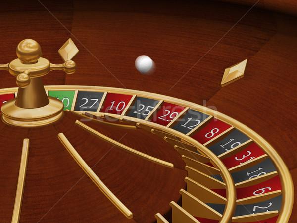 Rueda de la ruleta 3d pelota movimiento fondo casino Foto stock © kjpargeter