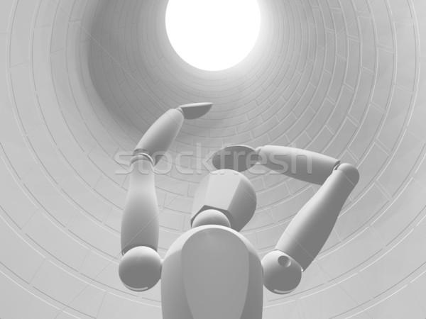 Uwięzione 3d ktoś w dół otwór Zdjęcia stock © kjpargeter