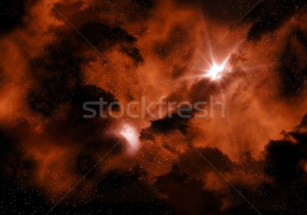 Ateşli uzay gökyüzü soyut manzara ay Stok fotoğraf © kjpargeter
