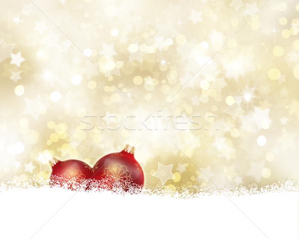 Golden Christmas background Stock photo © kjpargeter