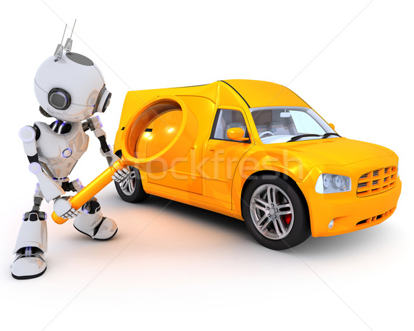 Robot searching for a van Stock photo © kjpargeter