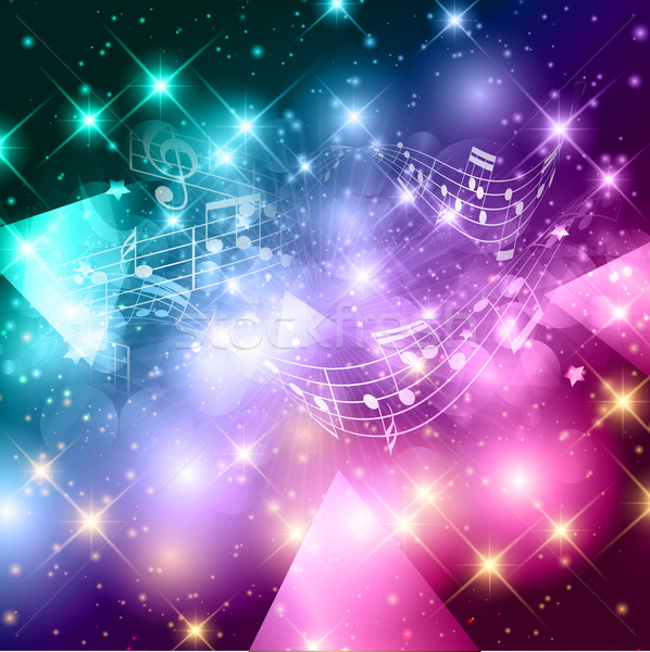 Abstract music notes background Stock photo © kjpargeter