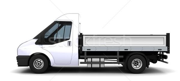 ágy furgon 3d render teherautó utazás szállítás Stock fotó © kjpargeter