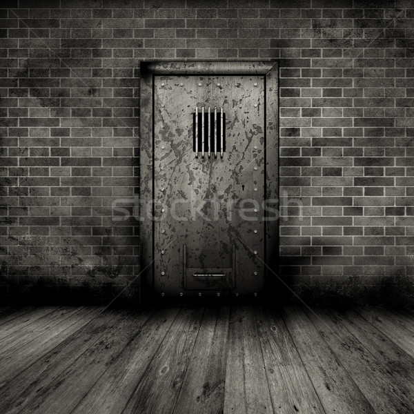 Grunge interior with prison door Stock photo © kjpargeter