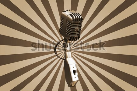 Stock photo: Grunge microphone
