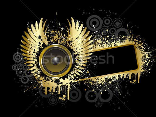 Grunge music background Stock photo © kjpargeter