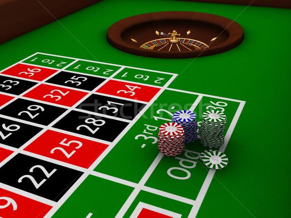 ルーレット 表 チップ 背景 ボール カジノ ストックフォト © kjpargeter