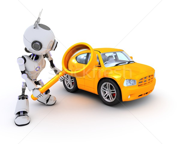 Robot searching for a car Stock photo © kjpargeter