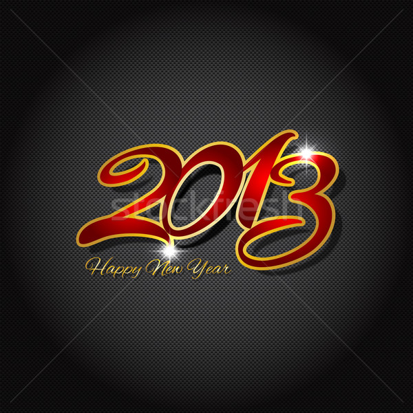 Happy new year on carbon fibre  Stock photo © kjpargeter