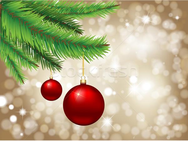 Christmas gwiazdki bokeh światła wiszący tle Zdjęcia stock © kjpargeter