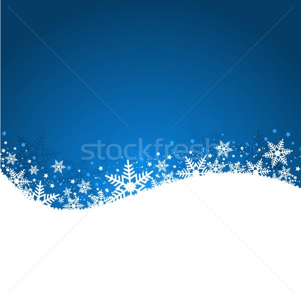 синий снежинка Рождества звезды фон Сток-фото © kjpargeter