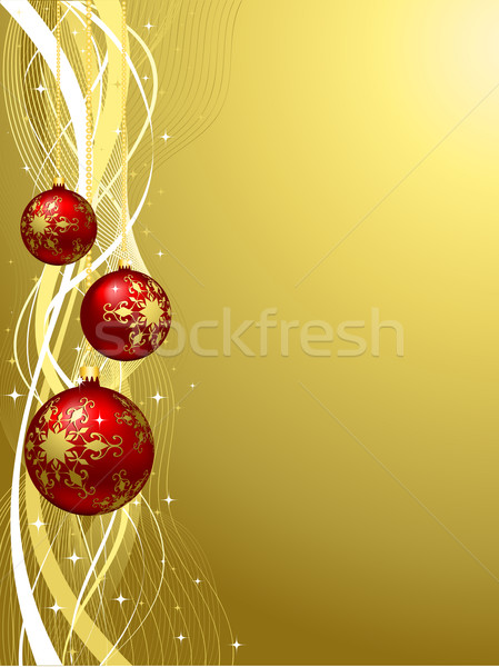 Noël décoratif résumé or couleur vecteur Photo stock © kjpargeter