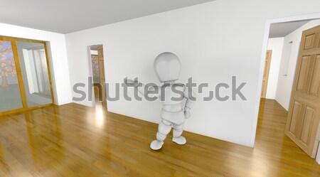 interior wall construction Stock photo © kjpargeter