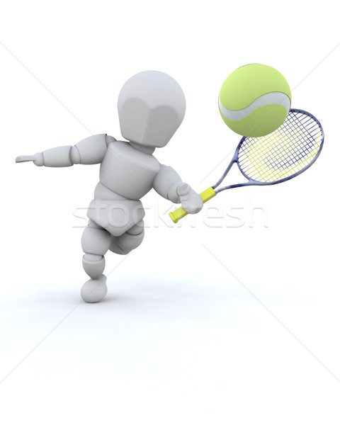 Tennis player Stock photo © kjpargeter