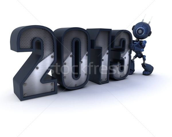 Androide año nuevo 3d tecnología Foto stock © kjpargeter