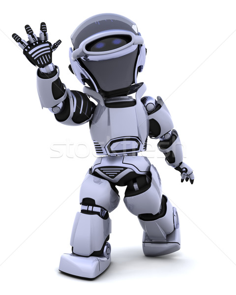 Robot waving Stock photo © kjpargeter