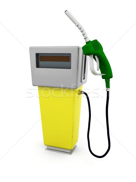 Benzinpumpa 3d render ötlet üzemanyag benzin 3D Stock fotó © kjpargeter