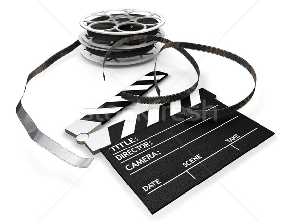 Film reels and clapper board Stock photo © kjpargeter