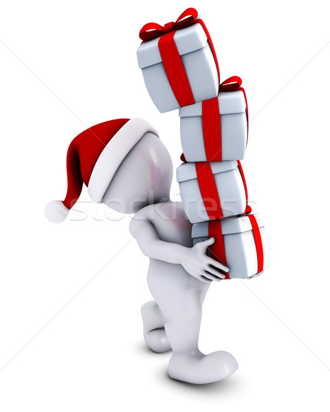 Morph Man with christmas gifts Stock photo © kjpargeter