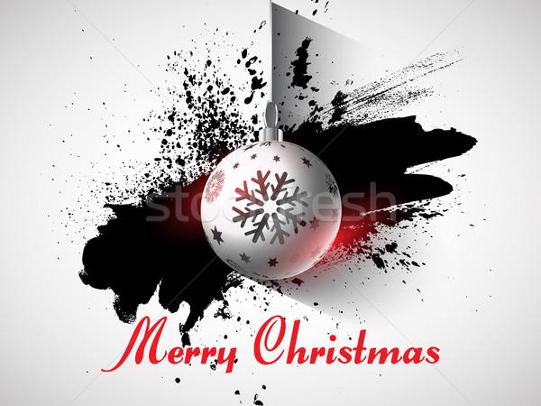Grunge Noel önemsiz şey arka plan tatil kutlama Stok fotoğraf © kjpargeter