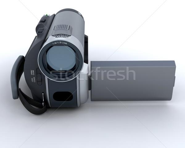 Digital filmadora 3d render televisão filme cinema Foto stock © kjpargeter