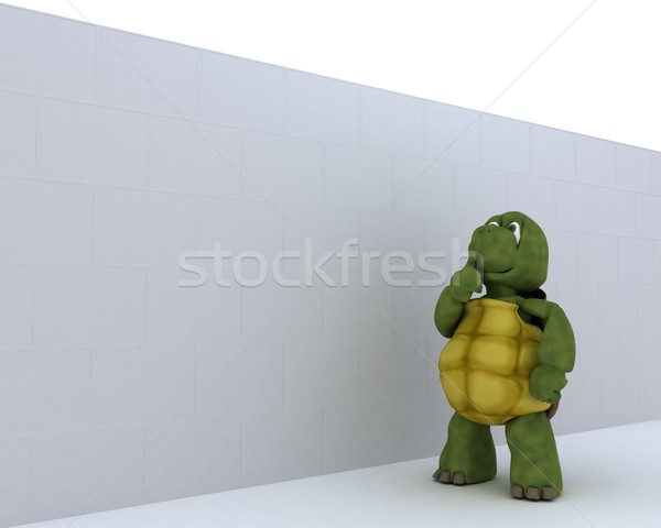 tortoise with jigsaw puzzle Stock photo © kjpargeter