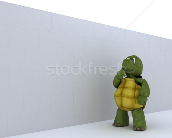 черепаха 3d визуализации океана оболочки среде Сток-фото © kjpargeter