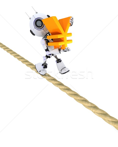Robot on a tight rope Stock photo © kjpargeter