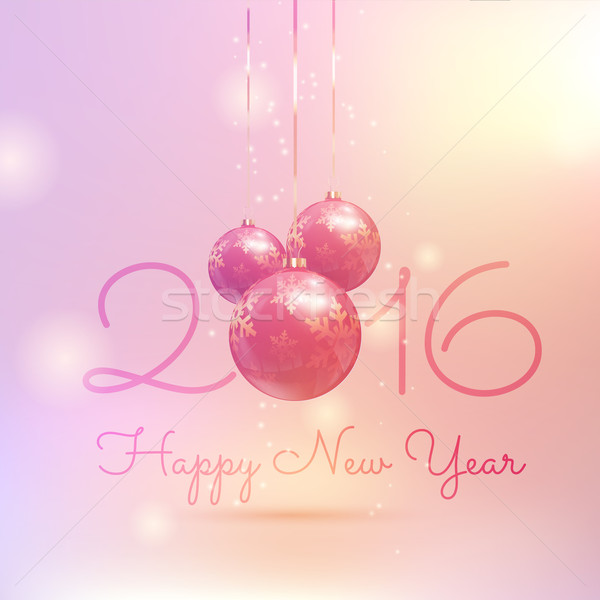 Retro styled Happy New Year bauble background  Stock photo © kjpargeter
