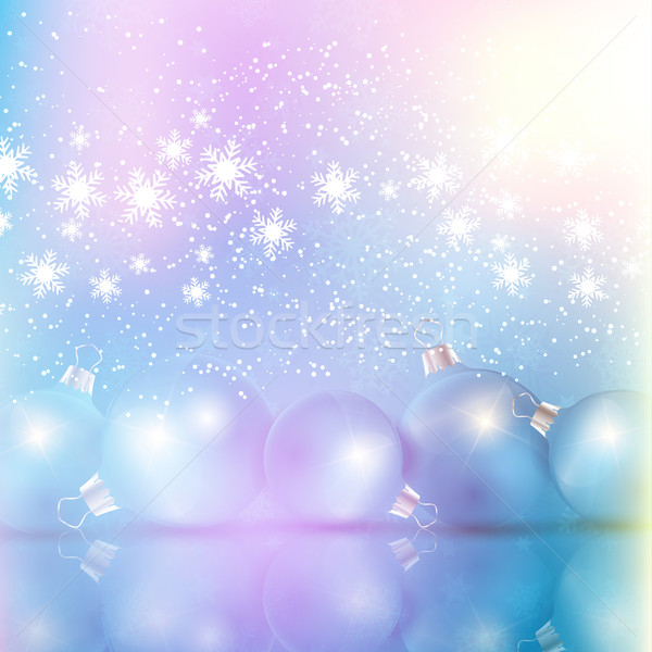 Retro styled Christmas bauble background Stock photo © kjpargeter