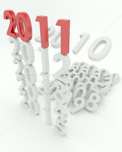 Nieuwjaar 3d render viering nieuwe vieren 3D Stockfoto © kjpargeter