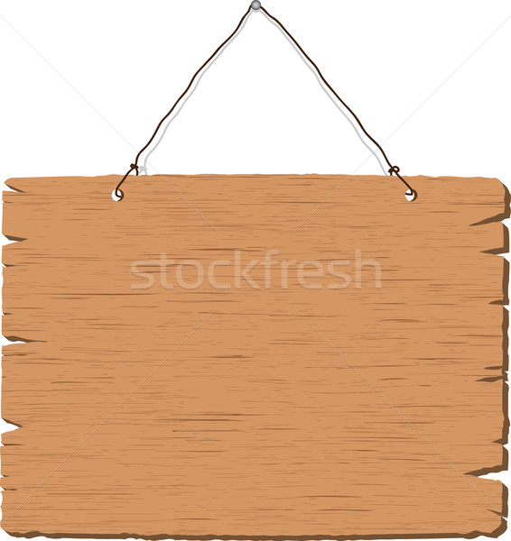Hanging blank wooden sign Stock photo © kjpargeter