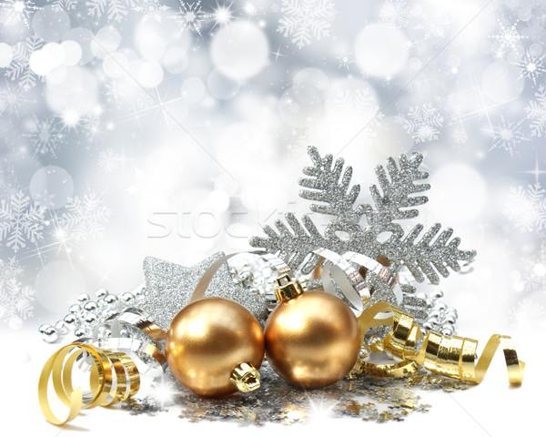 Christmas decorations Stock photo © kjpargeter