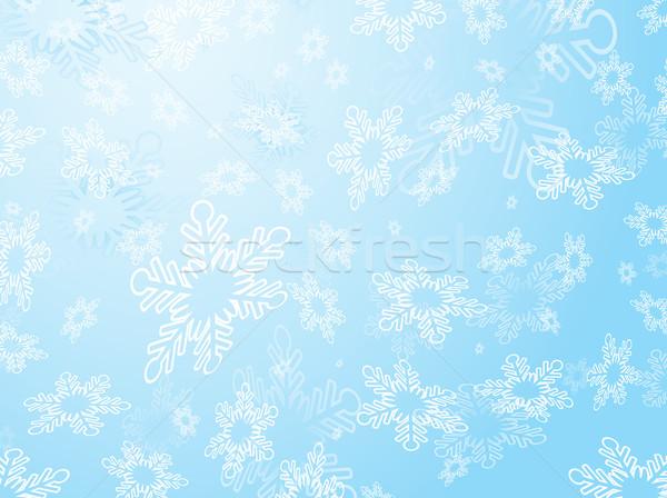 Nem leírás tél csillag ünneplés hópehely Stock fotó © kjpargeter
