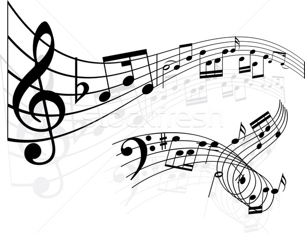 music notes background  Stock photo © kjpargeter