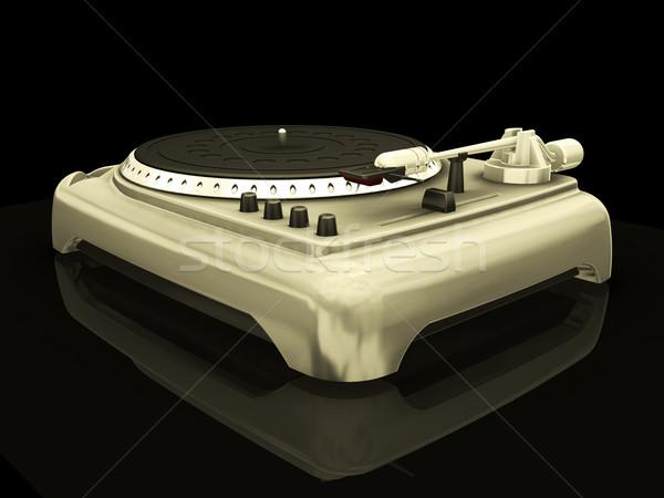 Döner tabla 3d render teknoloji kayıt elektronik nesne Stok fotoğraf © kjpargeter